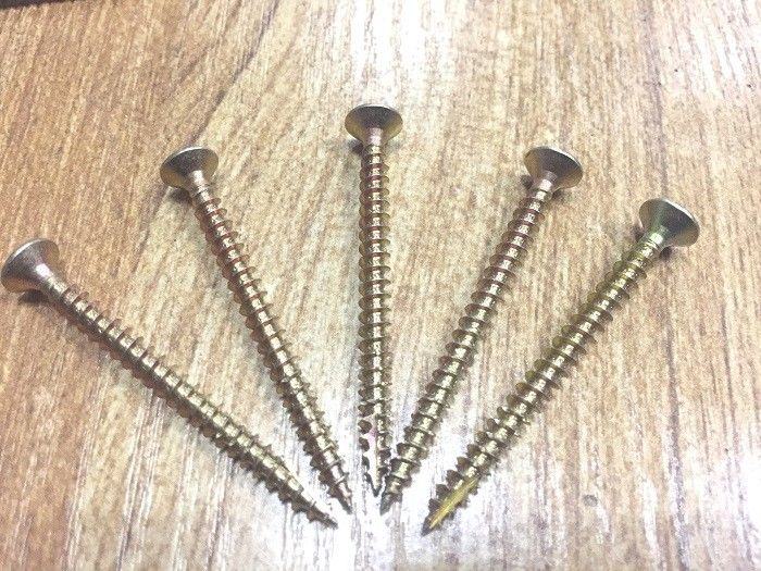 Double Csk Head Pozi Chipboard Screws Saw Thread For Wood Construsction